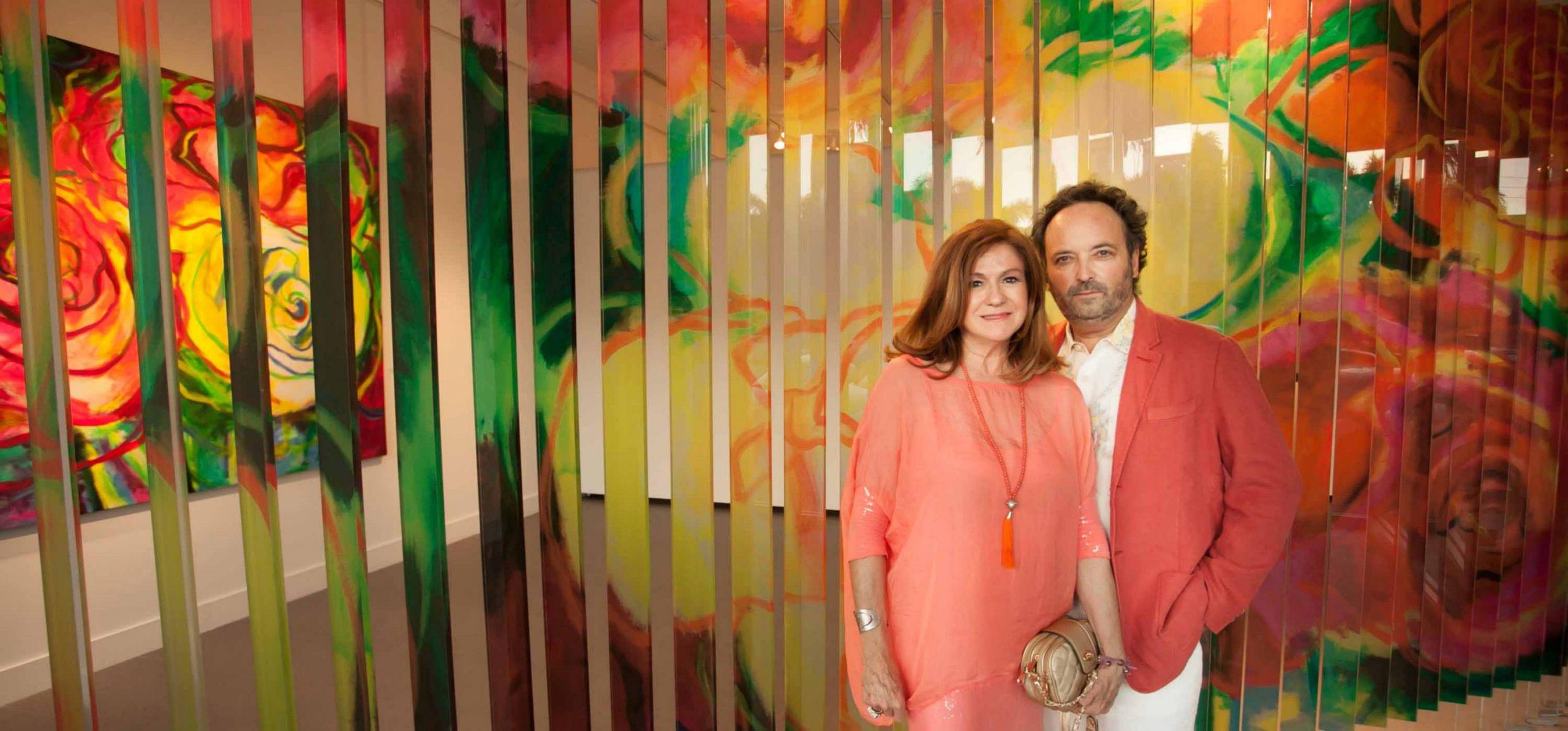 Manuel Herrera y Francisca Muñoz, MUHER expusieron en The Americas Collection en MIAMI
