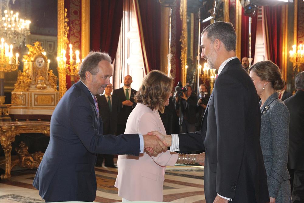 MUHER recibidos en la Casa Real