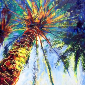 obra grafica sobre papel canson coloreada por artista 48 x 60-600€_60 x75-1200€__palmeral i