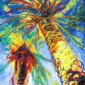 obra grafica sobre papel canson coloreada por artista 60 x 45-600€_80 x 60-1200€__palmeral ii
