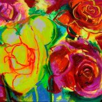 35.vaso de rosas de color__RED